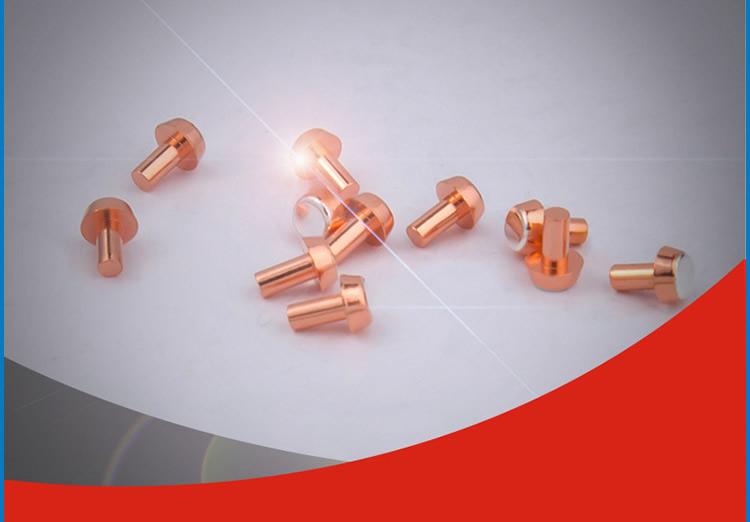 优质环保触点银铜铆钉银点加工厂家