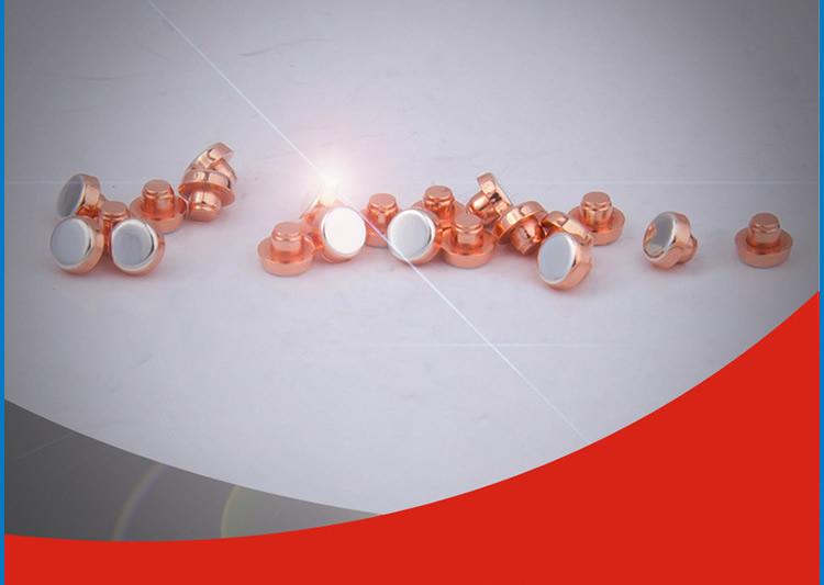 微动开关银触点环保型触头银点加工生产厂家